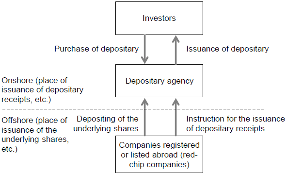 Figure 4. Arrangements for the Issuance of Depositary Receipts