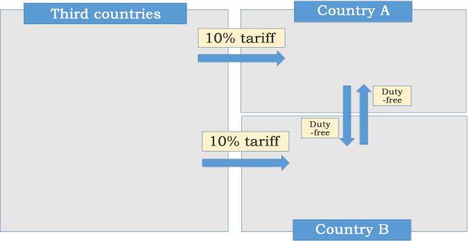 Figure 1: In the Case of Customs Unions