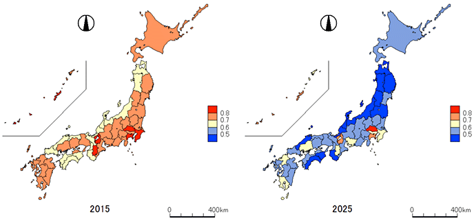 Figure 3.Changes in the Number of Companies by Prefecture