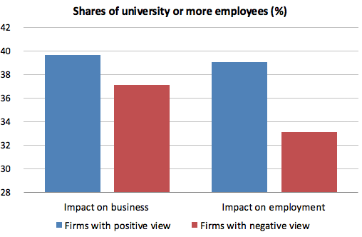 Figure 1 Firms' Views on the Impact of AI-Related Technologies and Employee Skill Levels