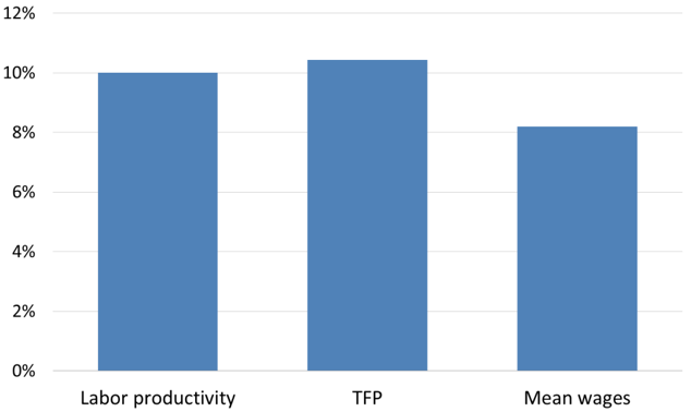 Figure 1 Productivity and Wages of FGPs