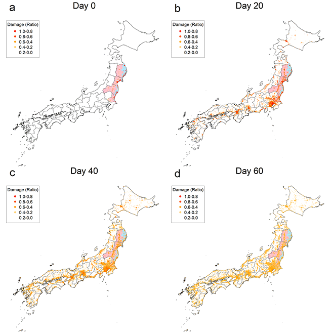 Figure 2. Geographic Propagation of the Shock from the Great East Japan Earthquake