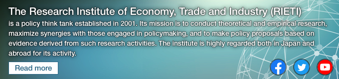 What is RIETI ? The Research Institute of Economy, Trade and Industry (RIETI) is a policy think tank established in Japan in 2001 and undertakes public policy studies and analyses, and makes policy proposals.