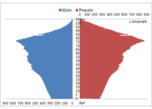 Figure: Projected Population Pyramid for 2050