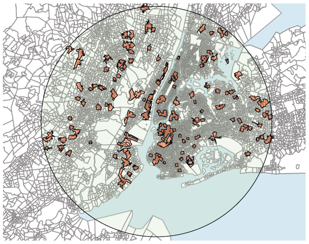 Figure 1. The Geography of Gentrification in New York, 1990-2000
