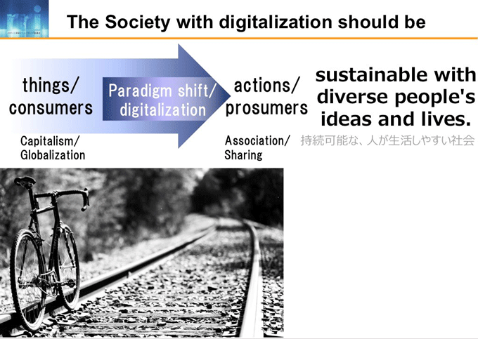 図1-1:The Society with digitalization should be