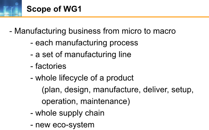 図2-2:Scope of WG1