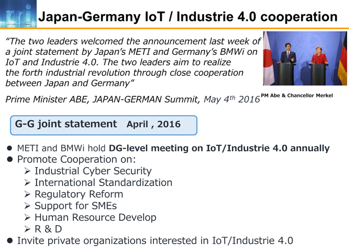図3-3:Japan-Germany IoT / Industrie 4.0 cooperation