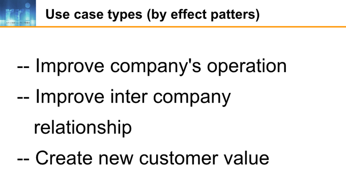 図6-6:Use case types (by effect patters)