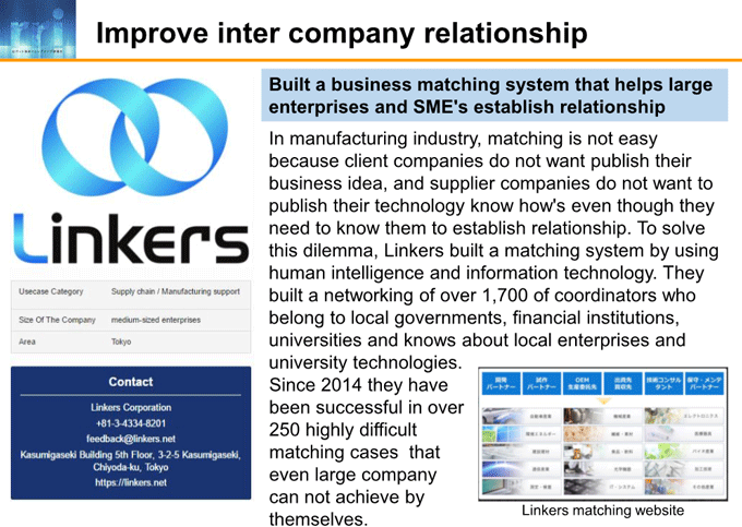 図6-9:Improve inter company's relationship