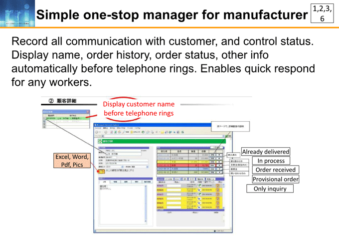 図7-8:Simple one-stop manager for manufacturer